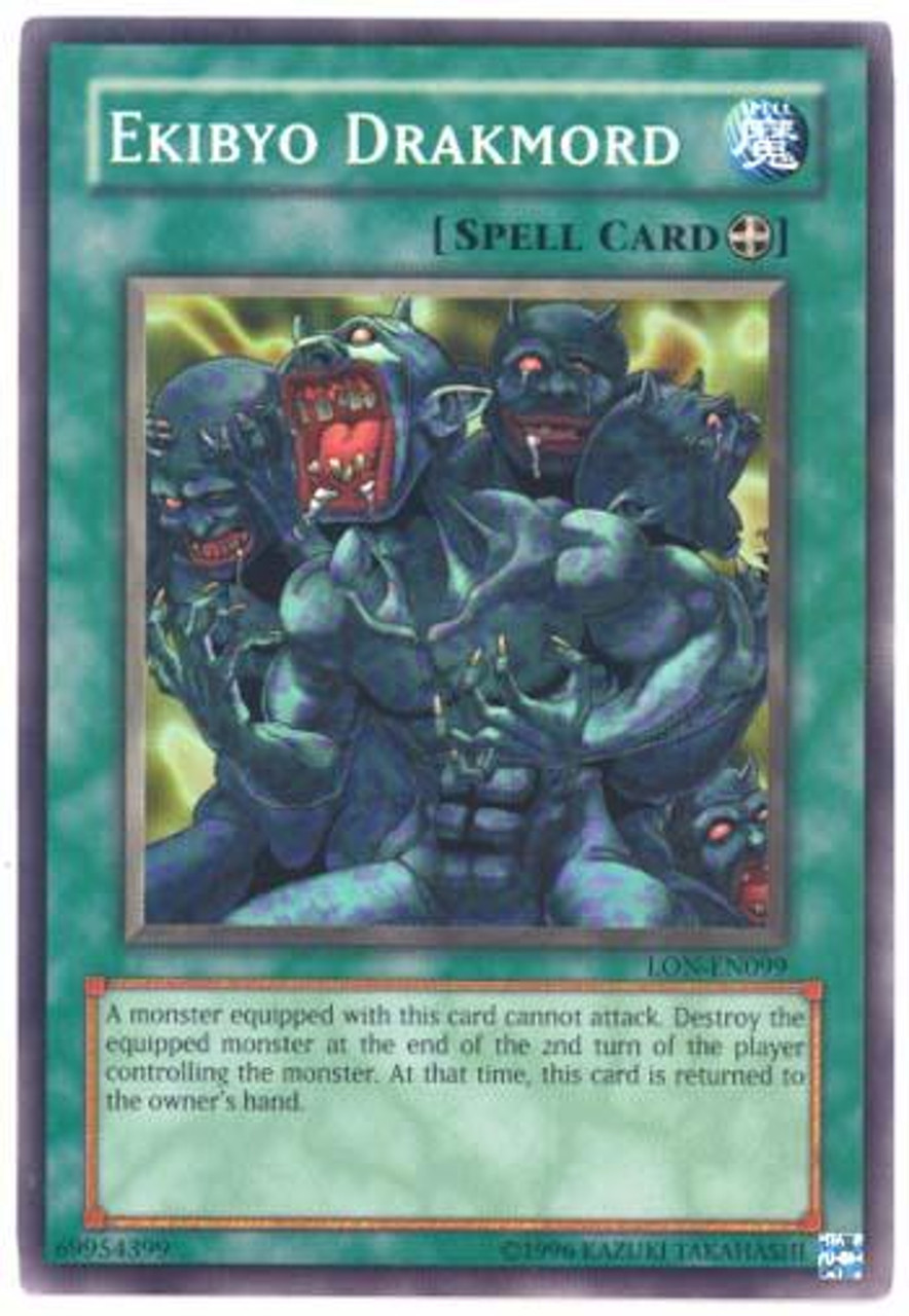 YuGiOh Labyrinth of Nightmare Common Ekibyo Drakmord LON-099