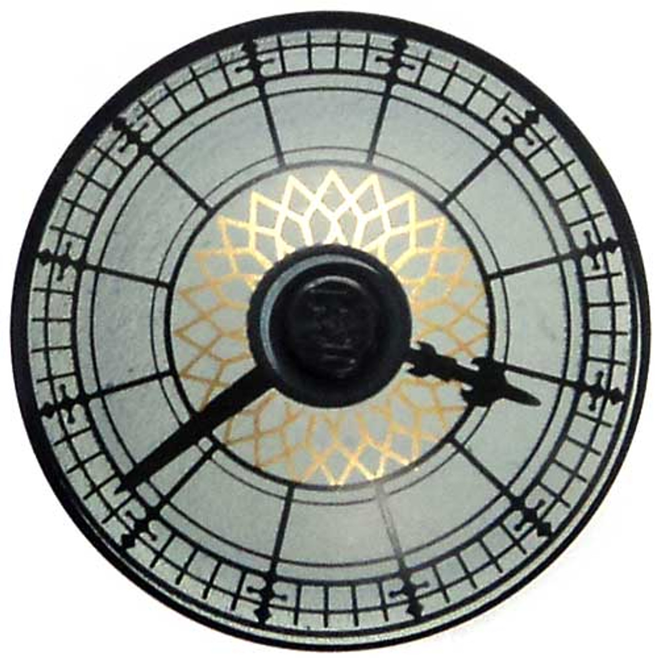 LEGO City Black Dish 4 x4 Town Hall Clock [Loose]