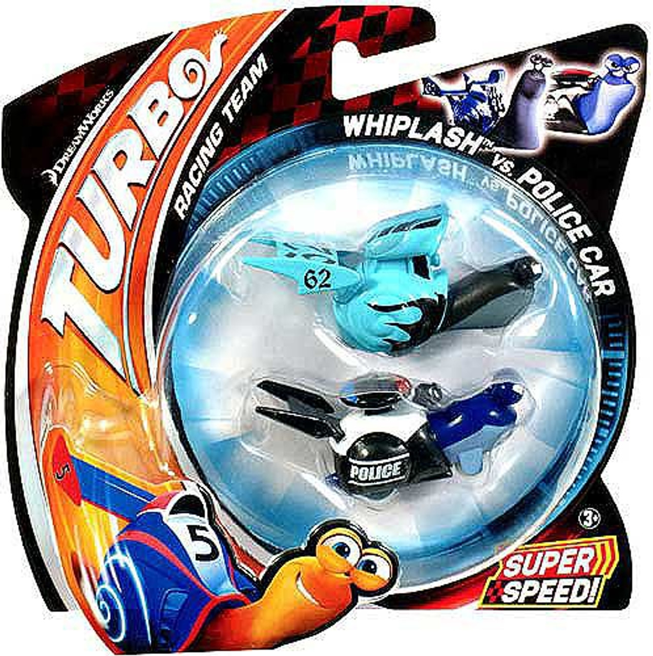 Turbo Whiplash vs Police Car Vehicle 2-Pack