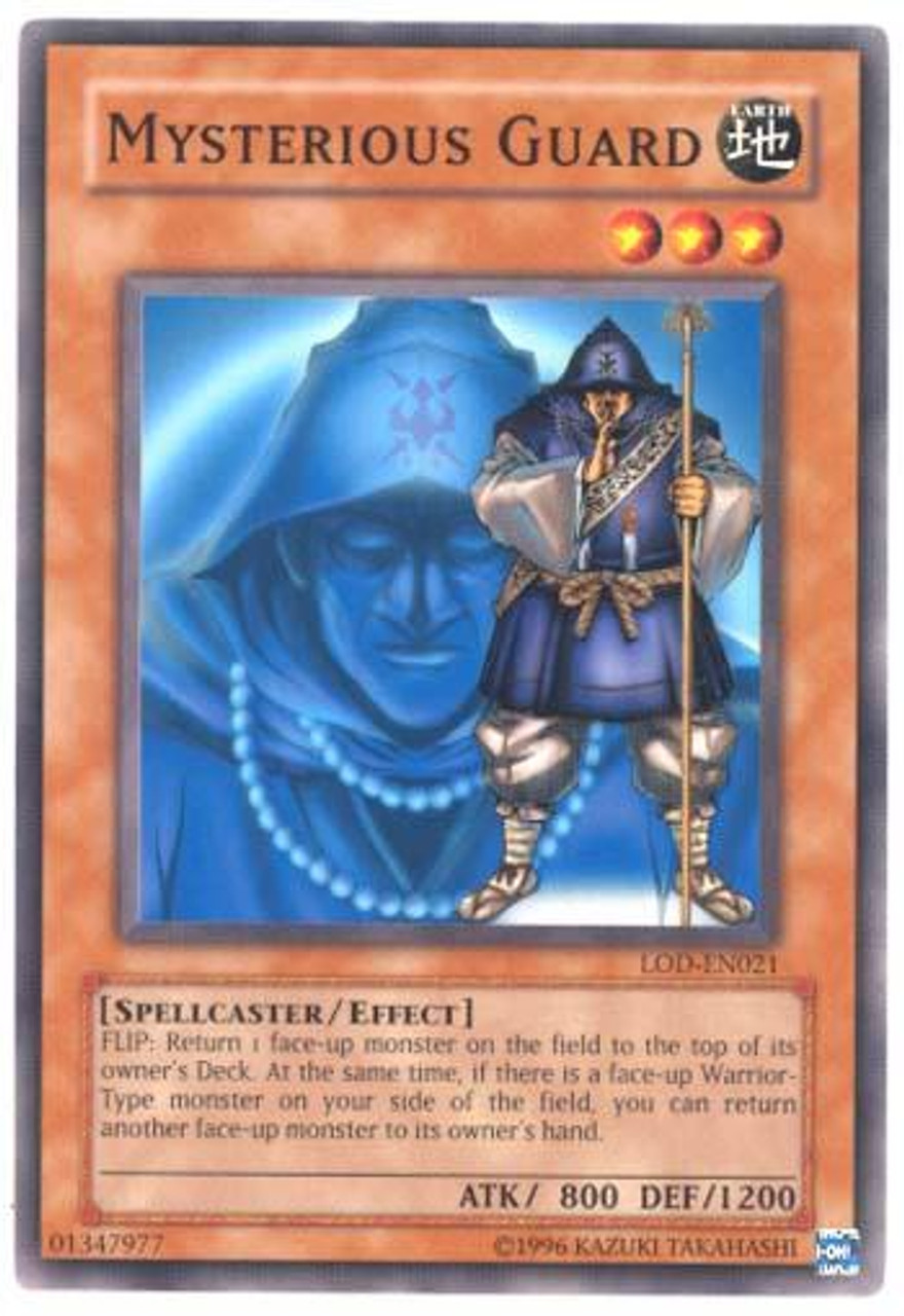 YuGiOh Legacy of Darkness Common Mysterious Guard LOD-021