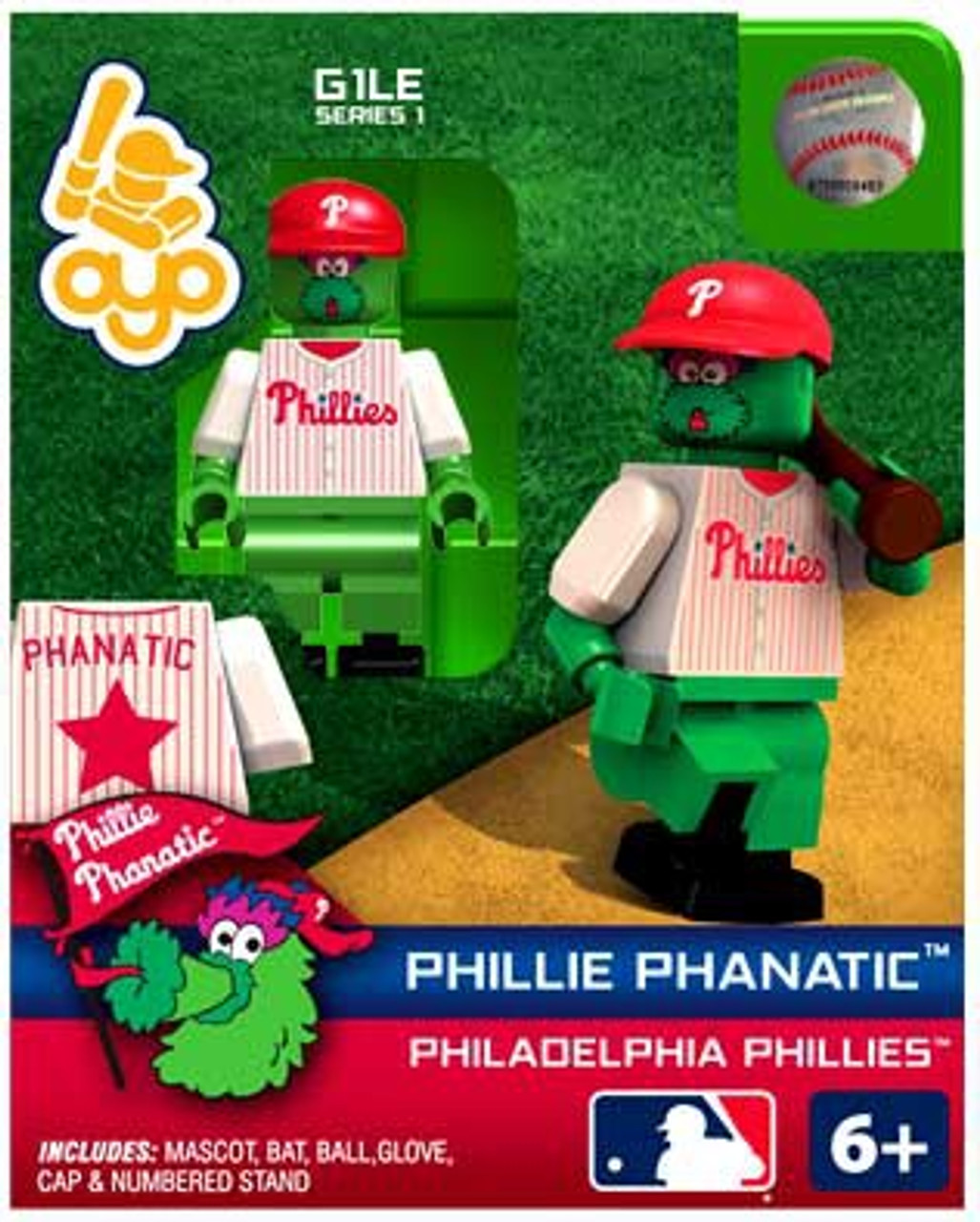 Philidelphia Phillies MLB Generation 1 Series 1 Phillie Phanatic Minifigure