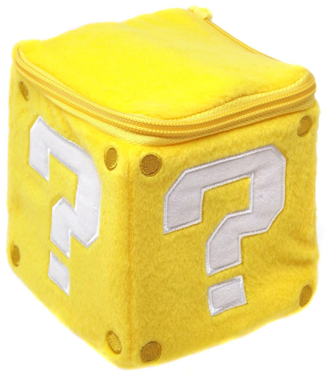 Super Mario Bros Coin Box 5-Inch Plush Pillow