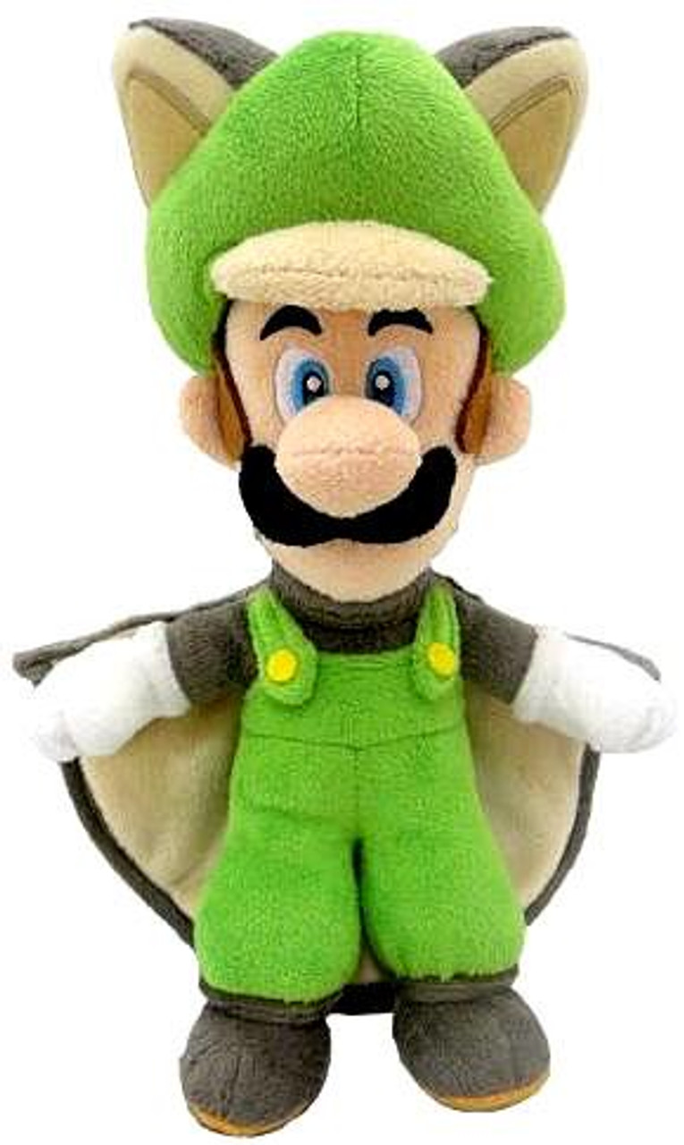 New Super Mario Bros U Luigi 14-Inch Plush [Flying Squirrel]