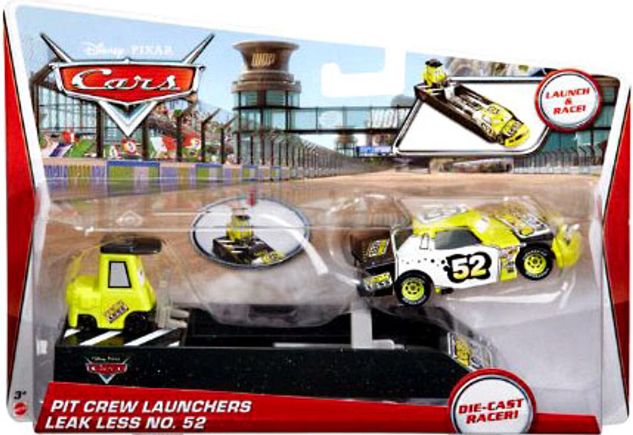 Disney Cars Pit Crew Launchers Leak Less No. 52 & Pitty Diecast Car [With Launcher]