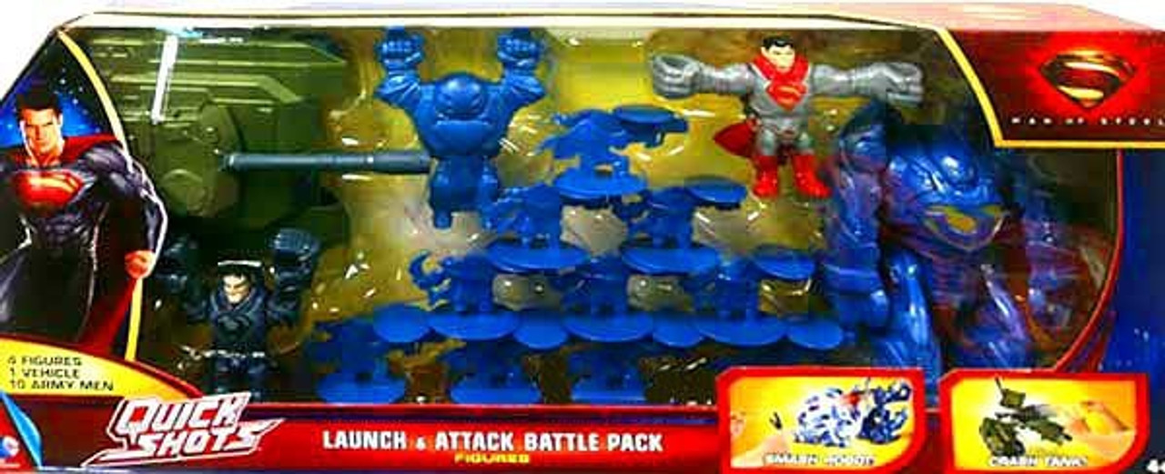 Superman Man of Steel Quick Shots Launch & Attack Battle Pack Exclusive Figure Set