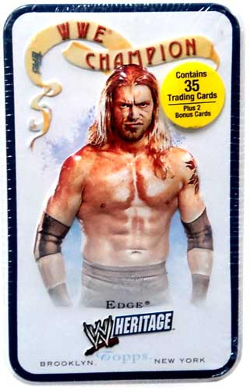 WWE Wrestling 2007 WWE Heritage Edge Trading Card Tin