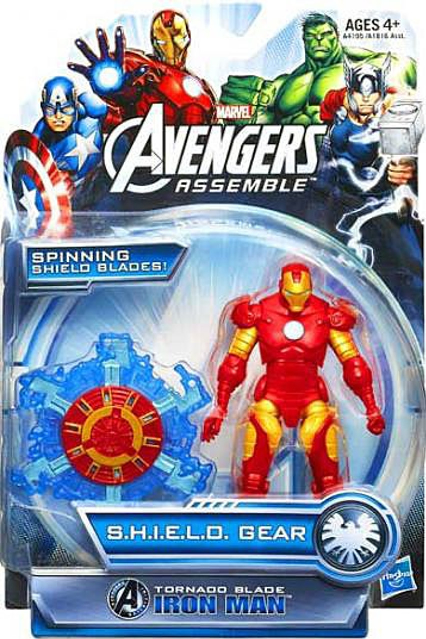 Marvel Avengers Assemble SHIELD Gear Tornado Blade Iron Man Action Figure