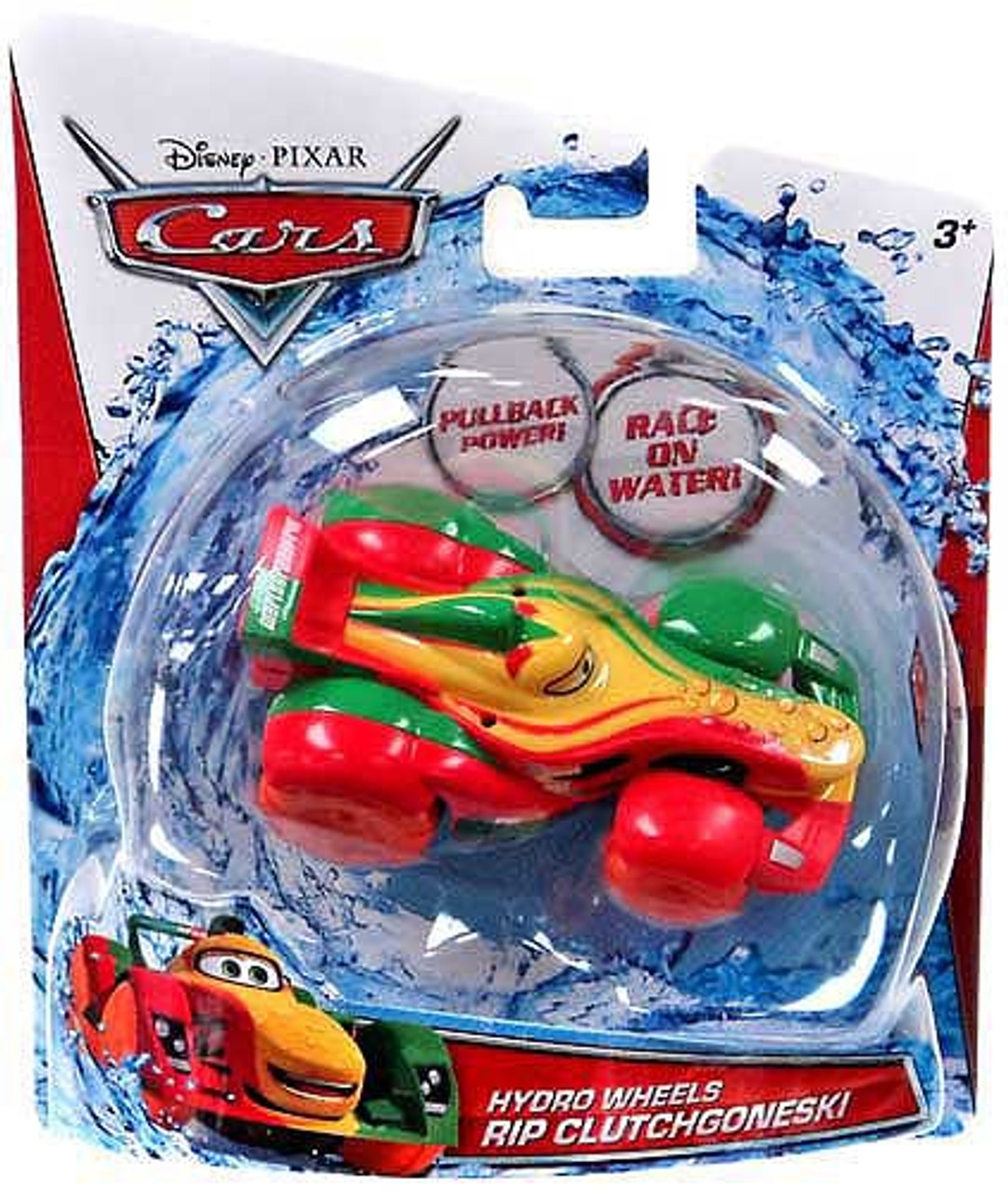 Disney Cars Hydro Wheels Rip Clutchgoneski Plastic Car [Random Package]