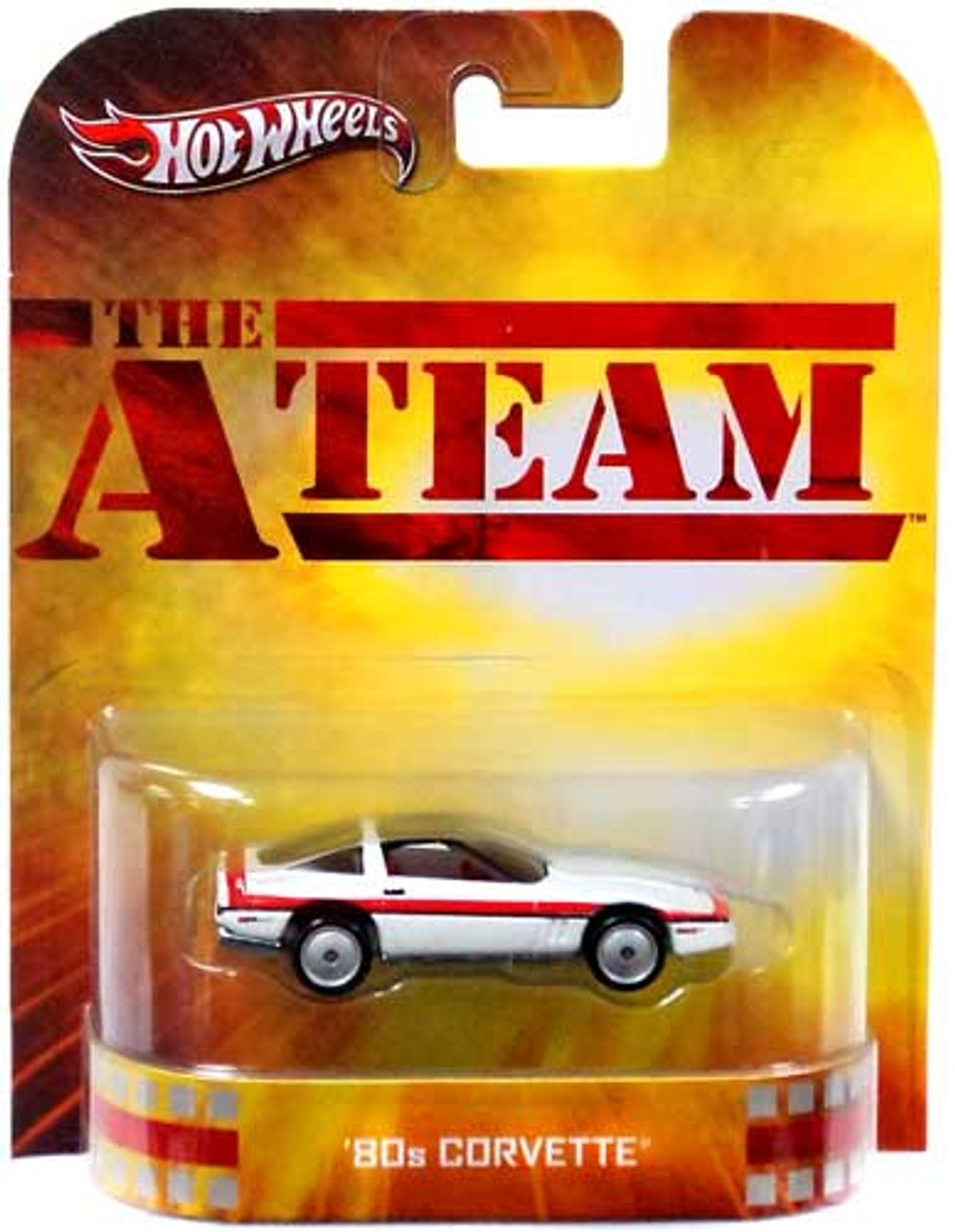 The A-Team Hot Wheels Retro '80s Corvette Diecast Vehicle