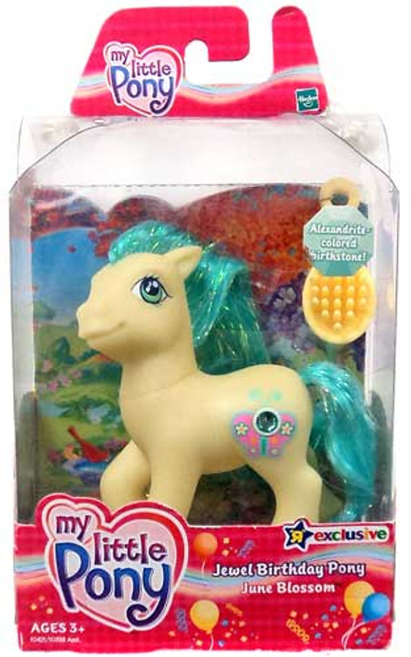 My Little Pony Classic Exclusives Jewel Birthday Party June Blossom Exclusive Figure