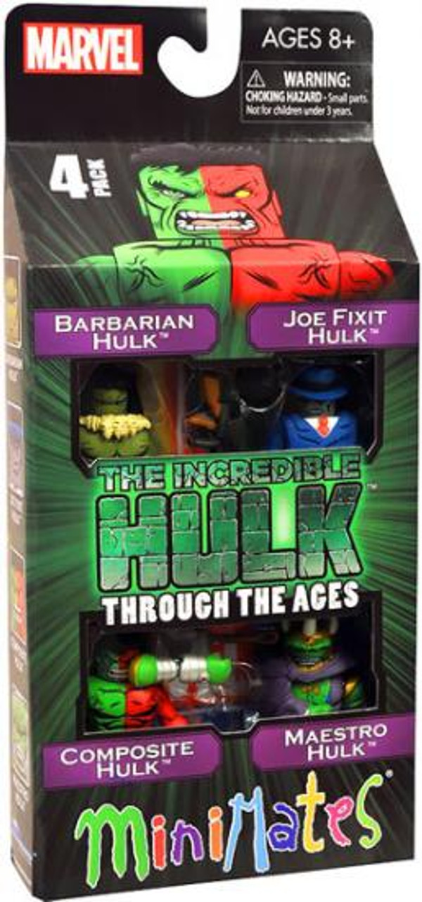 Minimates The Incredible Hulk Through The Ages Minifigure 4-Pack