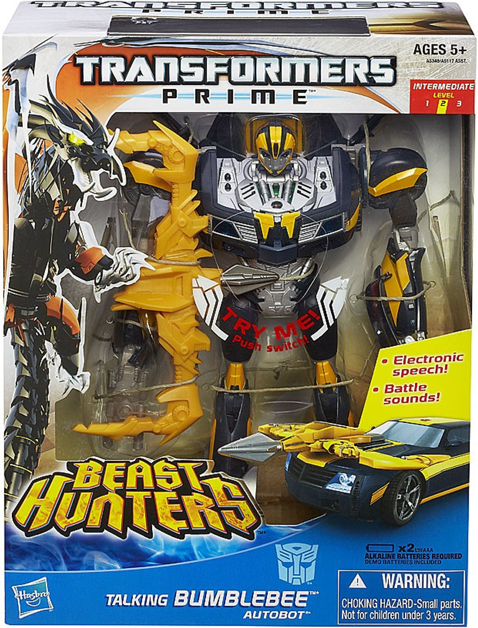 Transformers Prime Beast Hunters Talking Bumblebee Action Figure