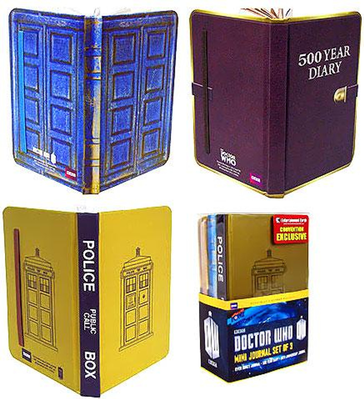Doctor Who Set of 3 Tardis Mini Journals