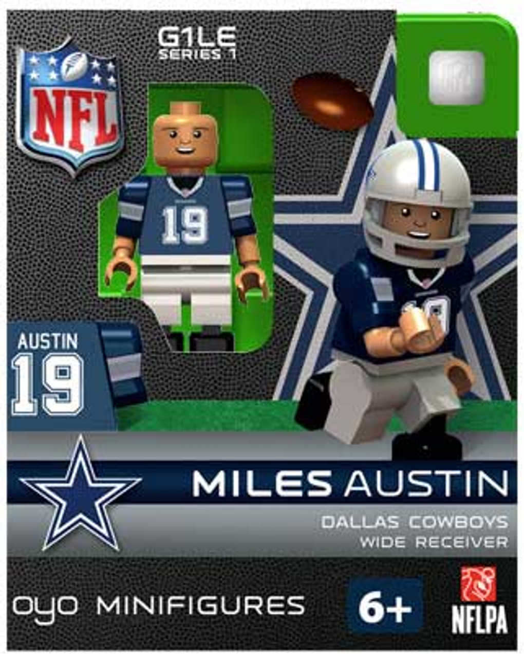 Dallas Cowboys NFL Generation 1 Series 1 Miles Austin Minifigure