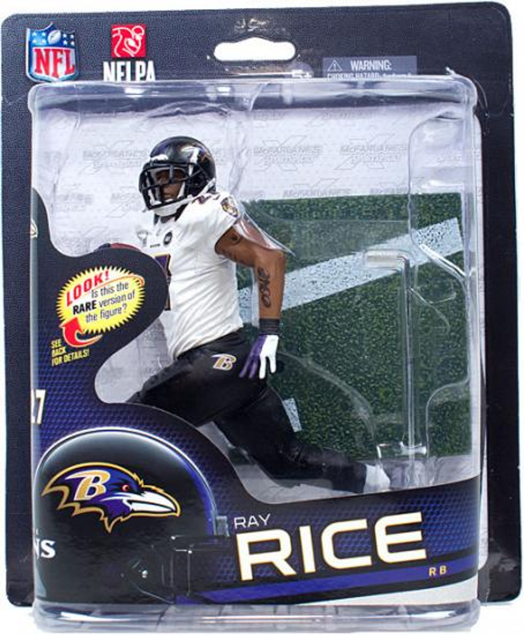 McFarlane Toys NFL Baltimore Ravens Sports Picks Series 32 Ray Rice Action Figure [White Jersey]