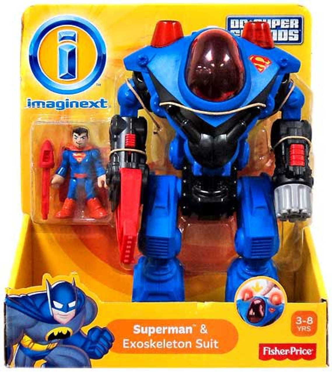 Fisher Price DC Super Friends Imaginext Superman & Exoskeleton Suit Exclusive 3-Inch Figure Set