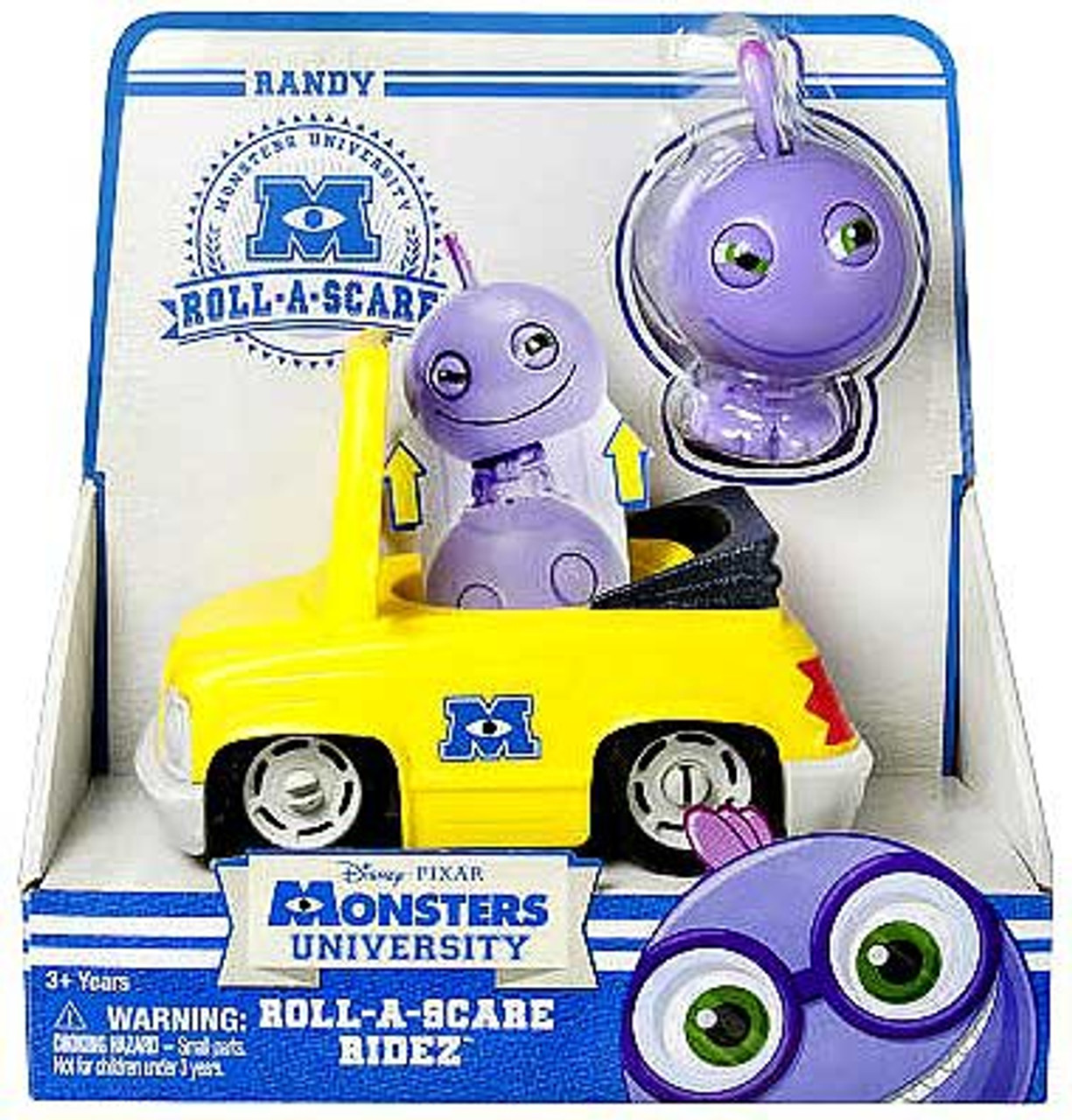 Disney / Pixar Monsters University Roll-a-Scare Ridez Randy Figure Set