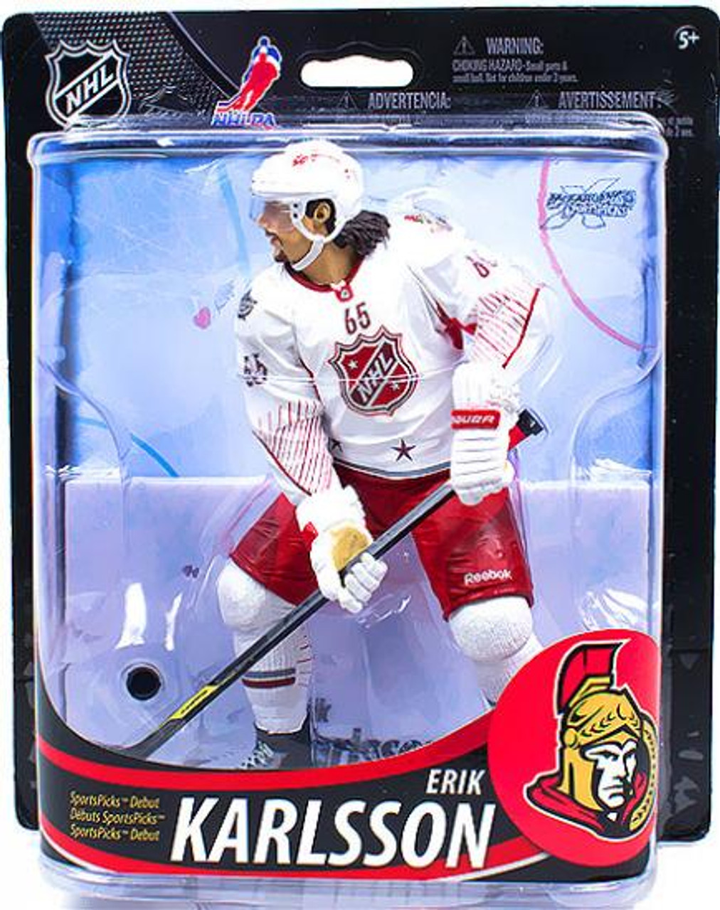 McFarlane Toys NHL Ottawa Senators Sports Picks Series 33 Erik Karlsson Action Figure [White Jersey]