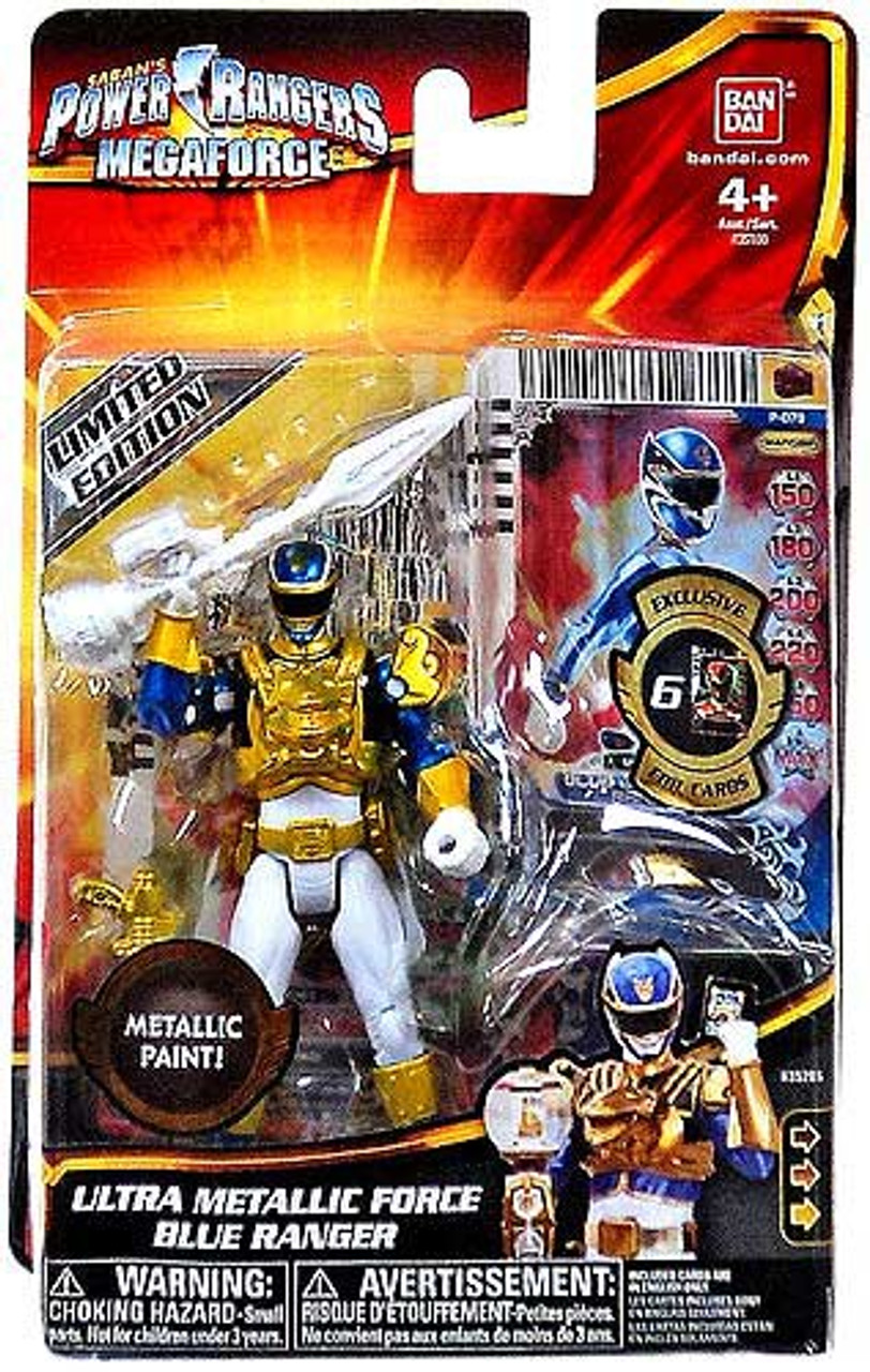 Power Rangers Megaforce Ultra Metallic Force Blue Ranger Action Figure