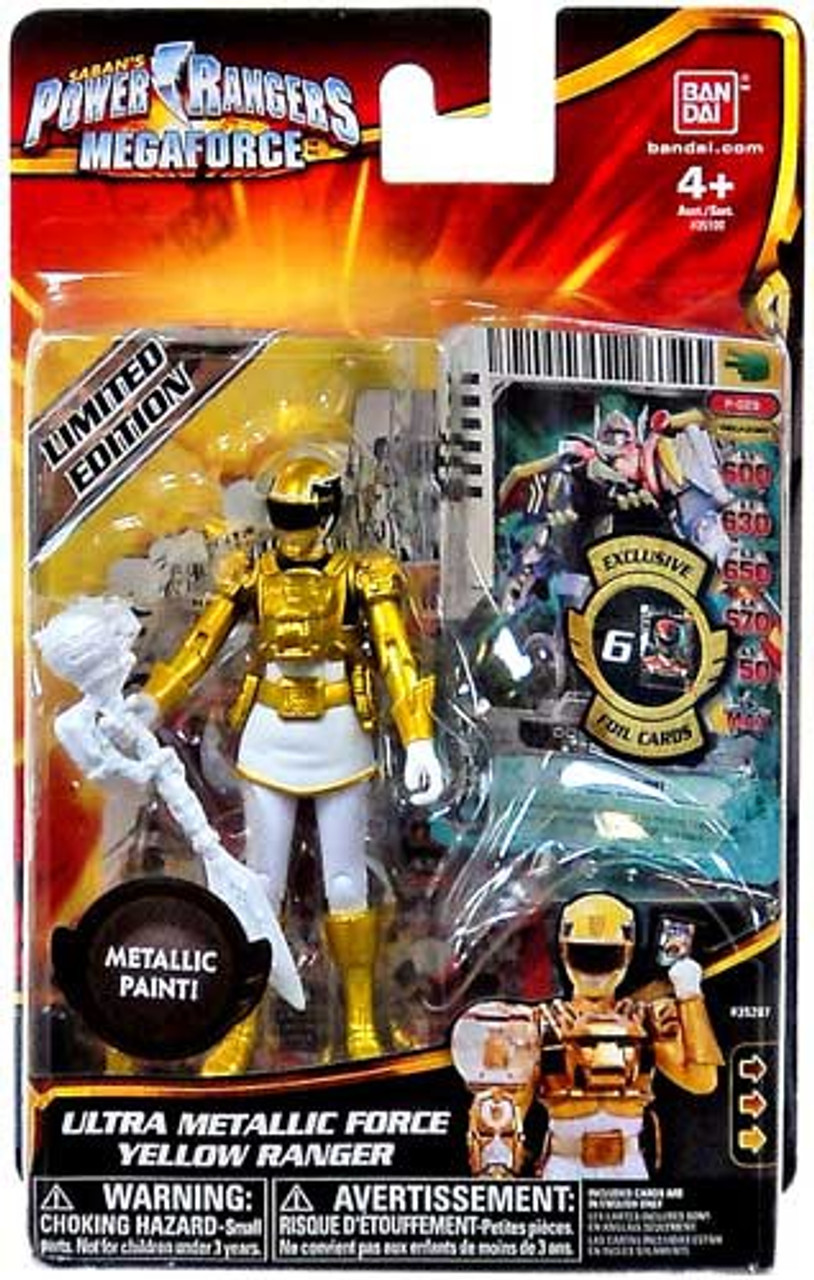 Power Rangers Megaforce Ultra Metallic Force Yellow Ranger Action Figure