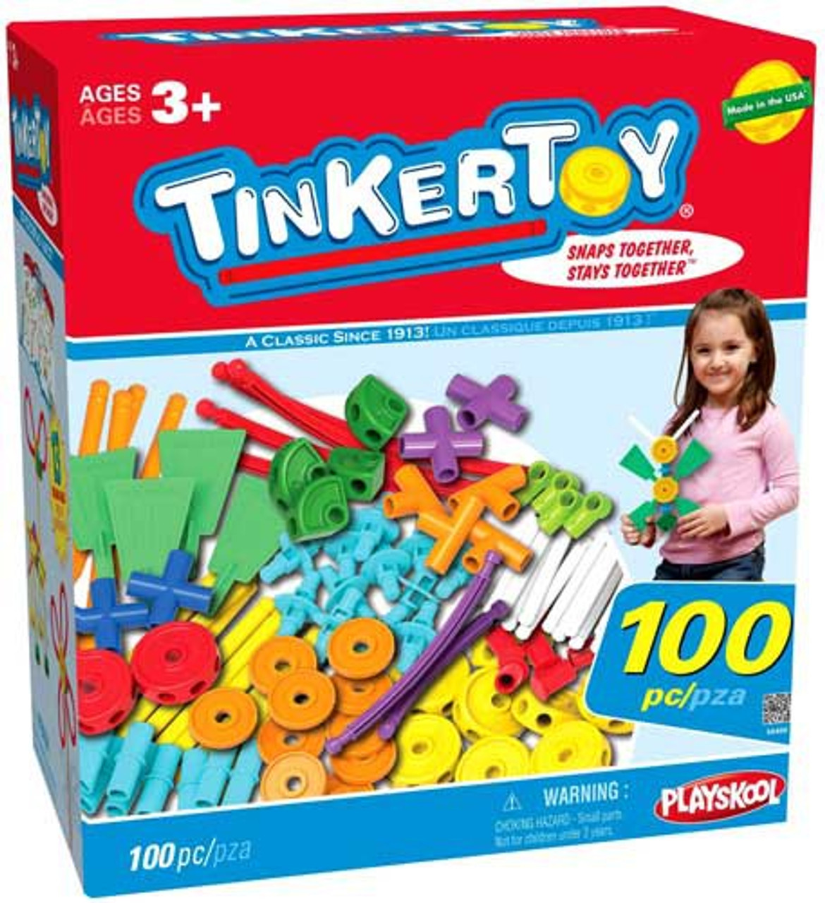 K'NEX Tinker Toy 100 Piece Essentials Value Set #56456
