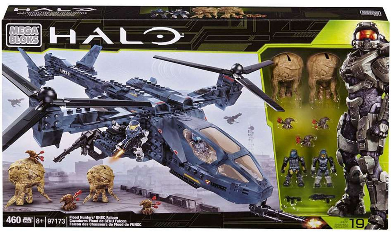 Mega Bloks Halo Flood Hunter's UNSC Falcon Exclusive Set #97173