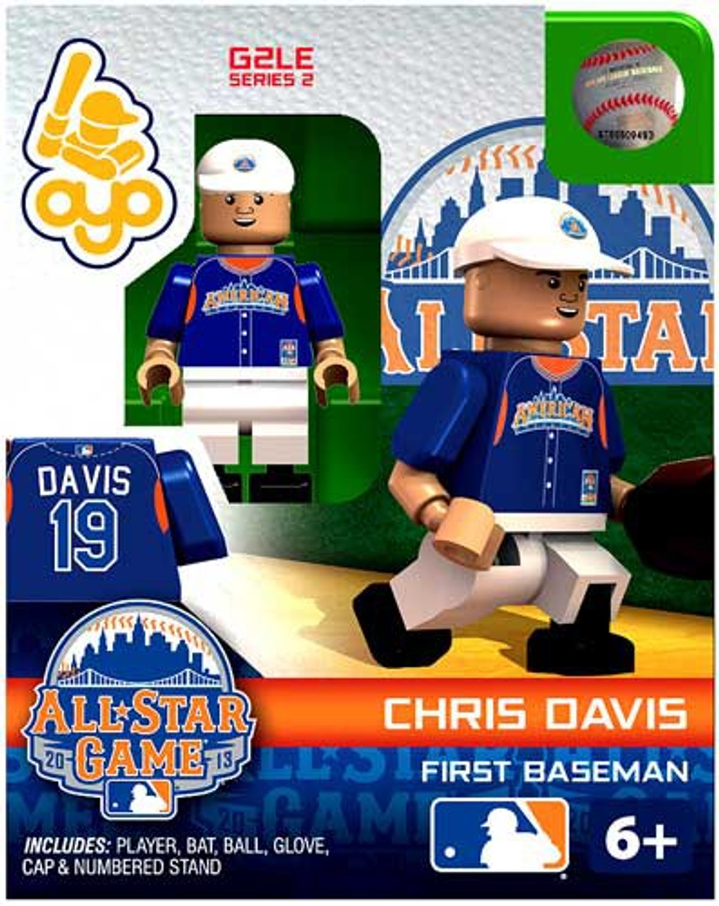 American League MLB Generation 2 Series 2 Chris Davis Minifigure [All-Star Game]