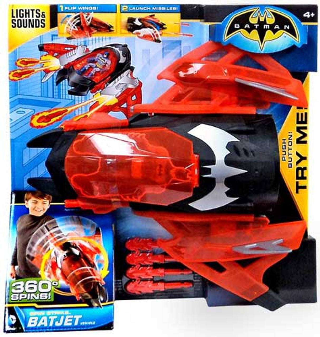Batman Spin Strike Batjet Vehicle