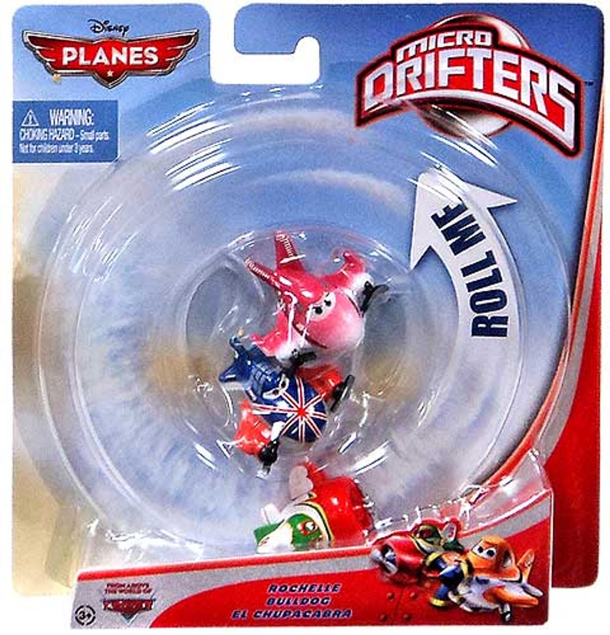 Disney Planes Micro Drifters Rochelle, Bulldog & El Chupacabra Vehicle 3-Pack