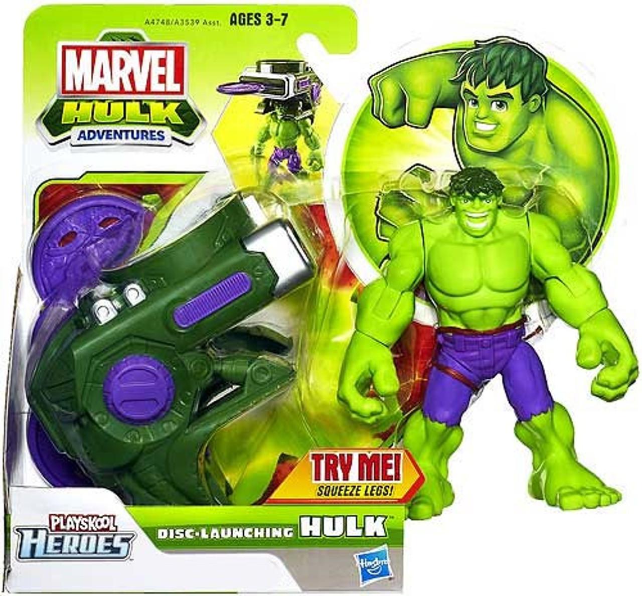 Marvel Playskool Heroes Hulk Adventures Disc-Launching Hulk Exclusive Action Figure Set
