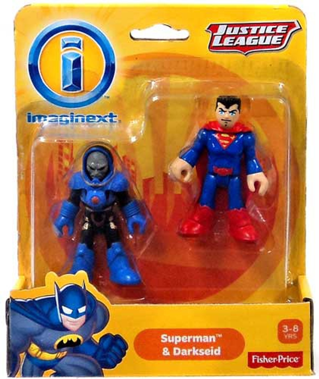 Fisher Price DC Super Friends Justice League Imaginext Superman & Darkseid Exclusive 3-Inch Mini Figures