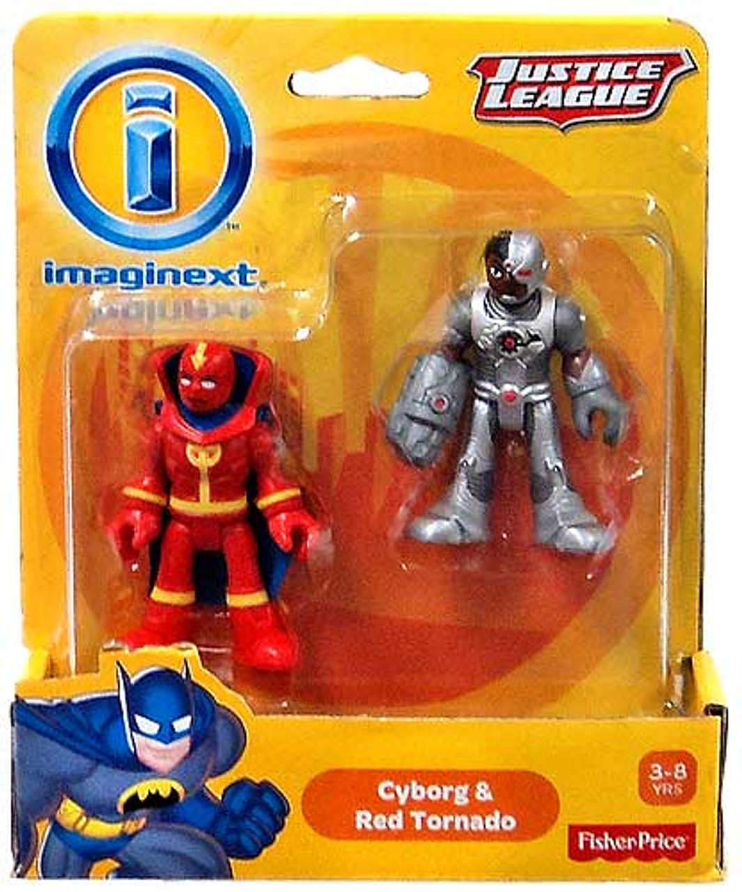 Fisher Price DC Super Friends Justice League Imaginext Cyborg & Red Tornado Exclusive Mini Figures