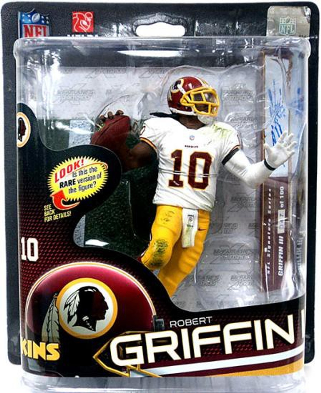 McFarlane Toys NFL Washington Redskins Sports Picks Series 32 Robert Griffin III Action Figure [White Jersey Autographed]