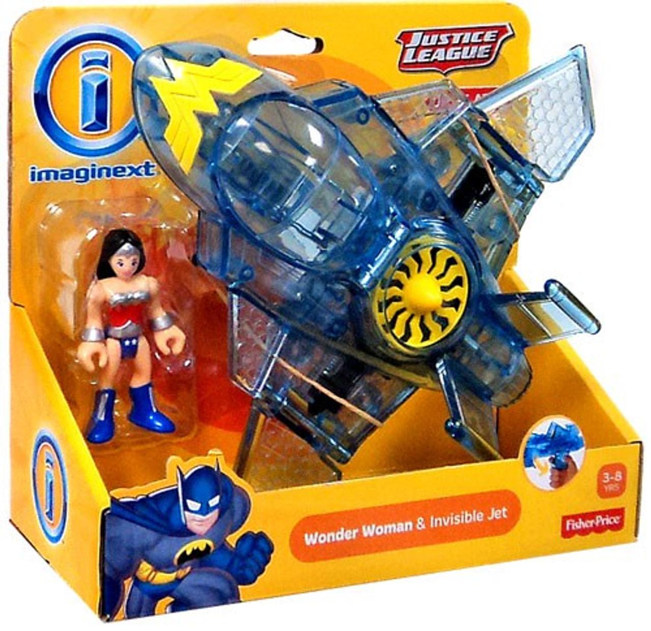 Fisher Price DC Super Friends Justice League Imaginext Wonder Woman & Invisible Jet Exclusive 3-Inch Figure Set [Original Version]