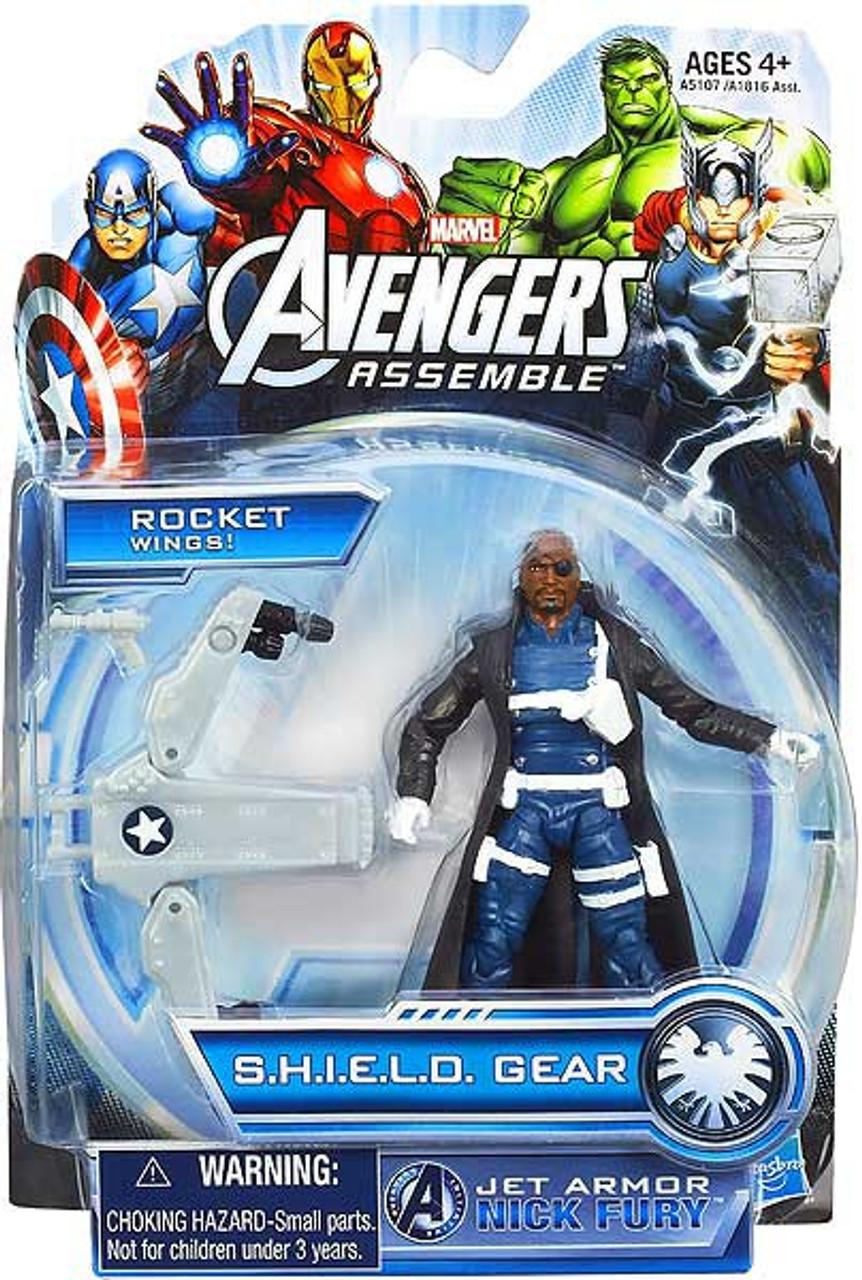 Marvel Avengers Assemble SHIELD Gear Jet Armor Nick Fury Action Figure