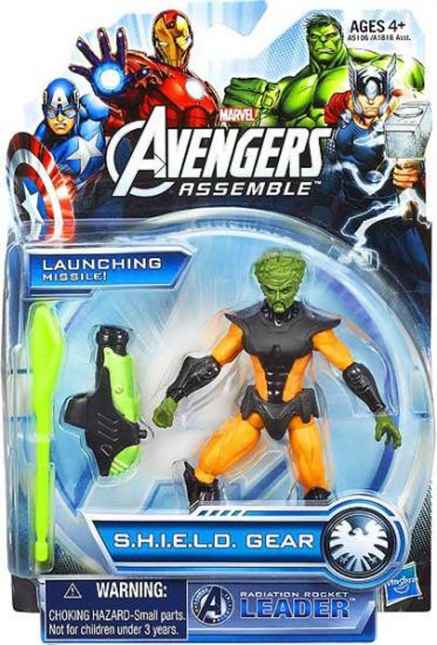 Marvel Avengers Assemble SHIELD Gear Radioactive Rocket Leader Action Figure