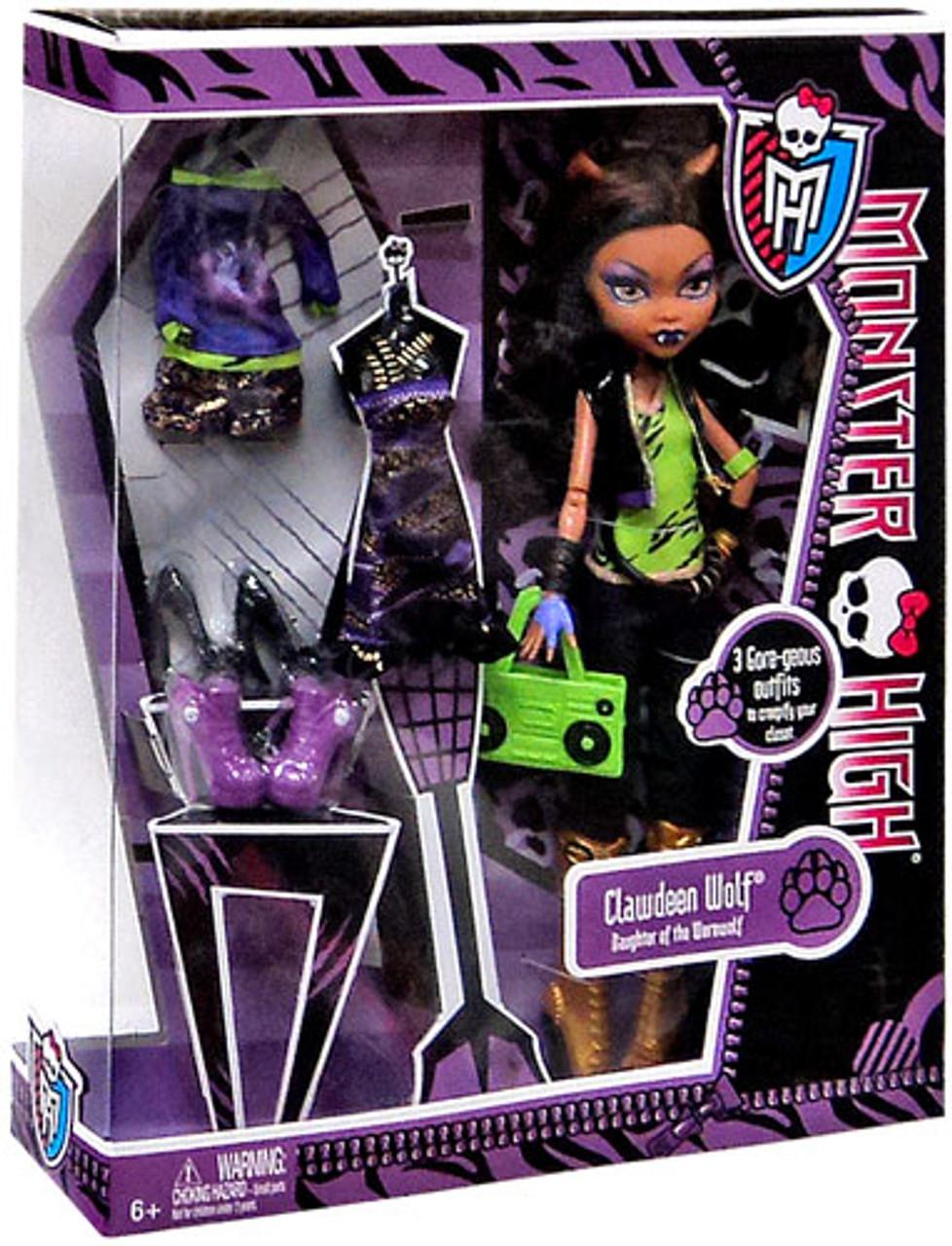 Monster High I Love Fashion Clawdeen Wolf 10.5-Inch Doll