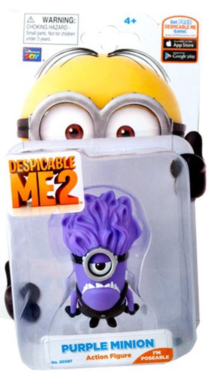 Despicable Me 2 Purple Minion Action Figure [Stuart]