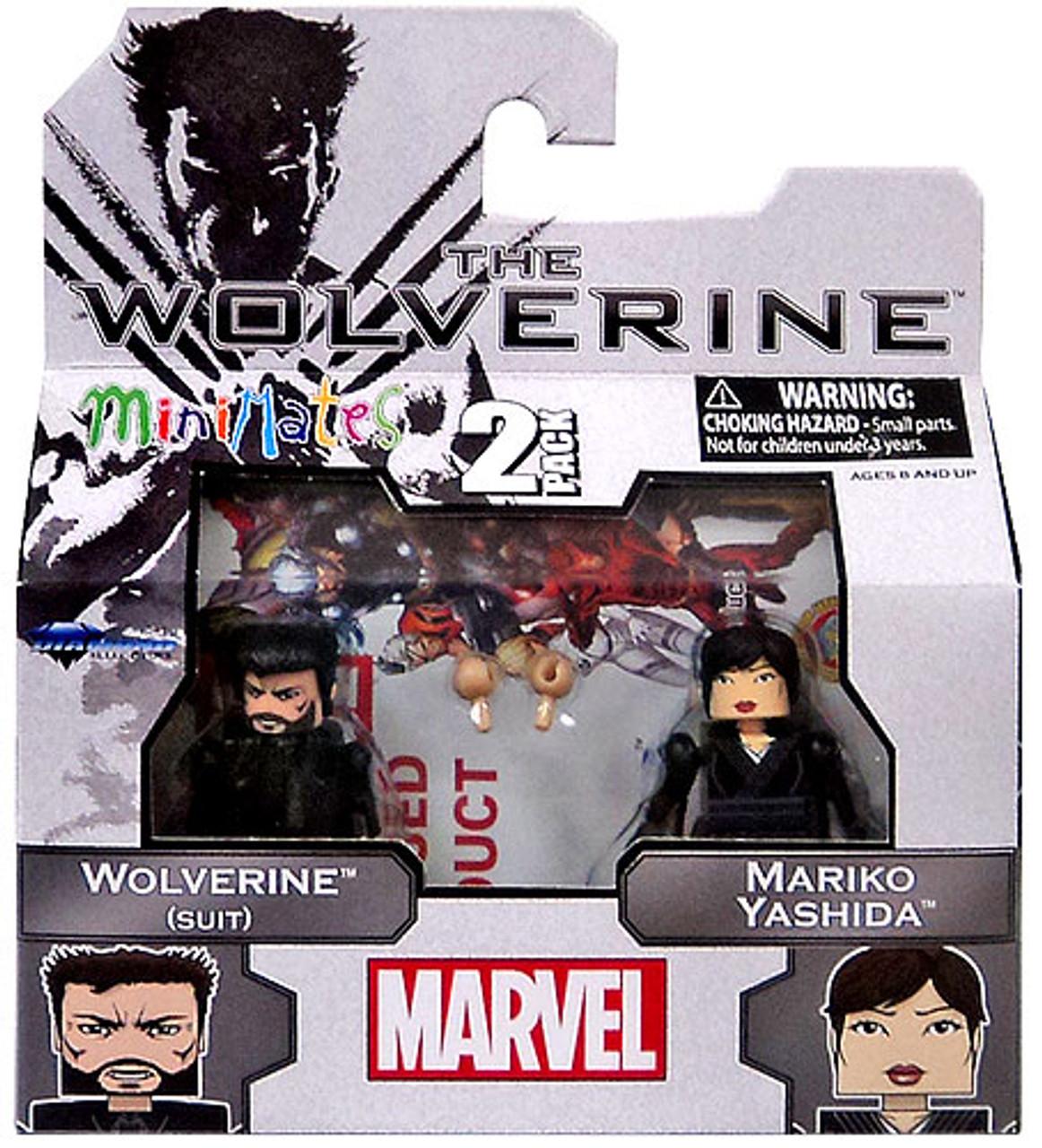 The Wolverine Minimates Series 52 Wolverine [Suit] & Mariko Yashida Minifigure 2-Pack