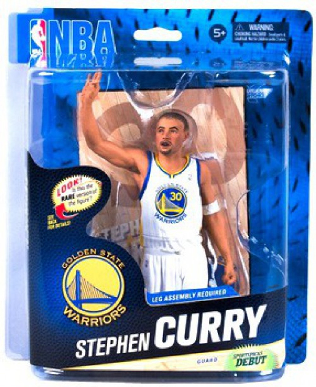 McFarlane Toys NBA Golden State Warriors Sports Picks Series 24 Stephen Curry Action Figure [White Jersey]