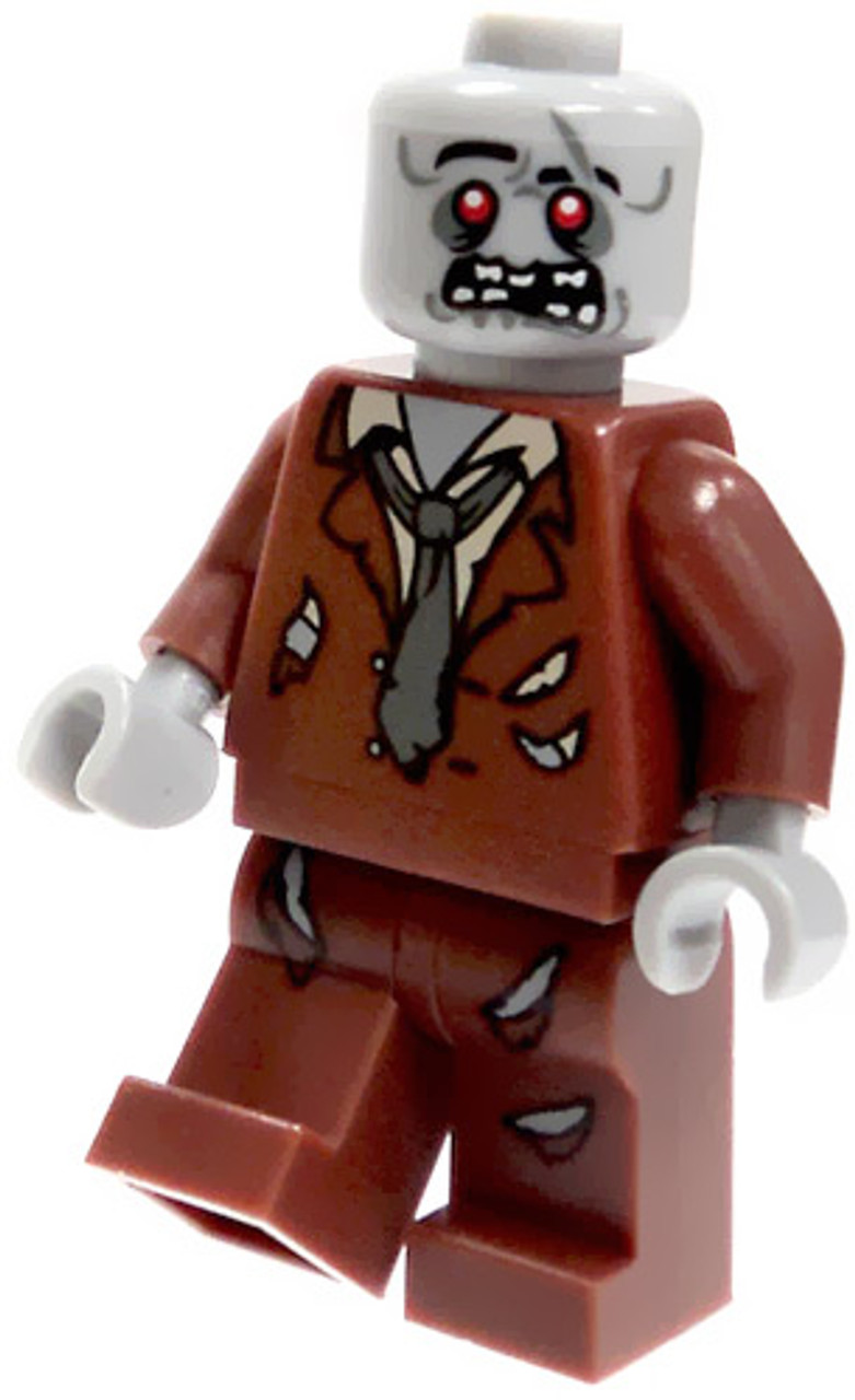 LEGO Loose Zombie Minifigure [Brown Tattered Suit Loose]