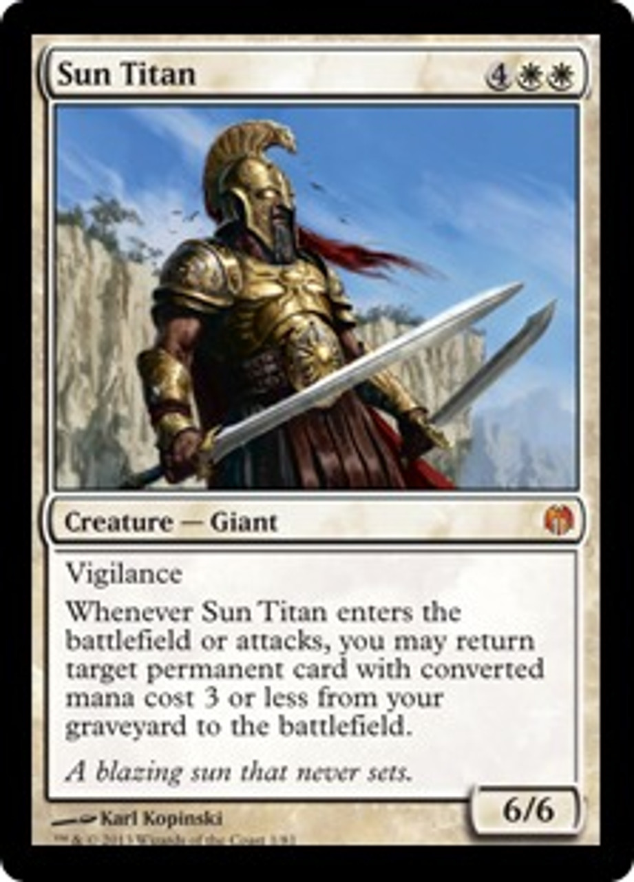 MtG Duel Decks: Heroes vs. Monsters Mythic Rare Foil Sun Titan #1