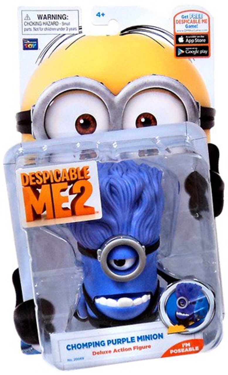 Despicable Me 2 Purple Minion Action Figure [Chomping]