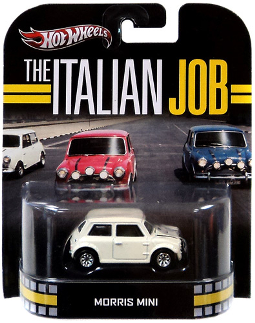 The Italian Job Hot Wheels Retro Morris Mini Diecast Vehicle [White]