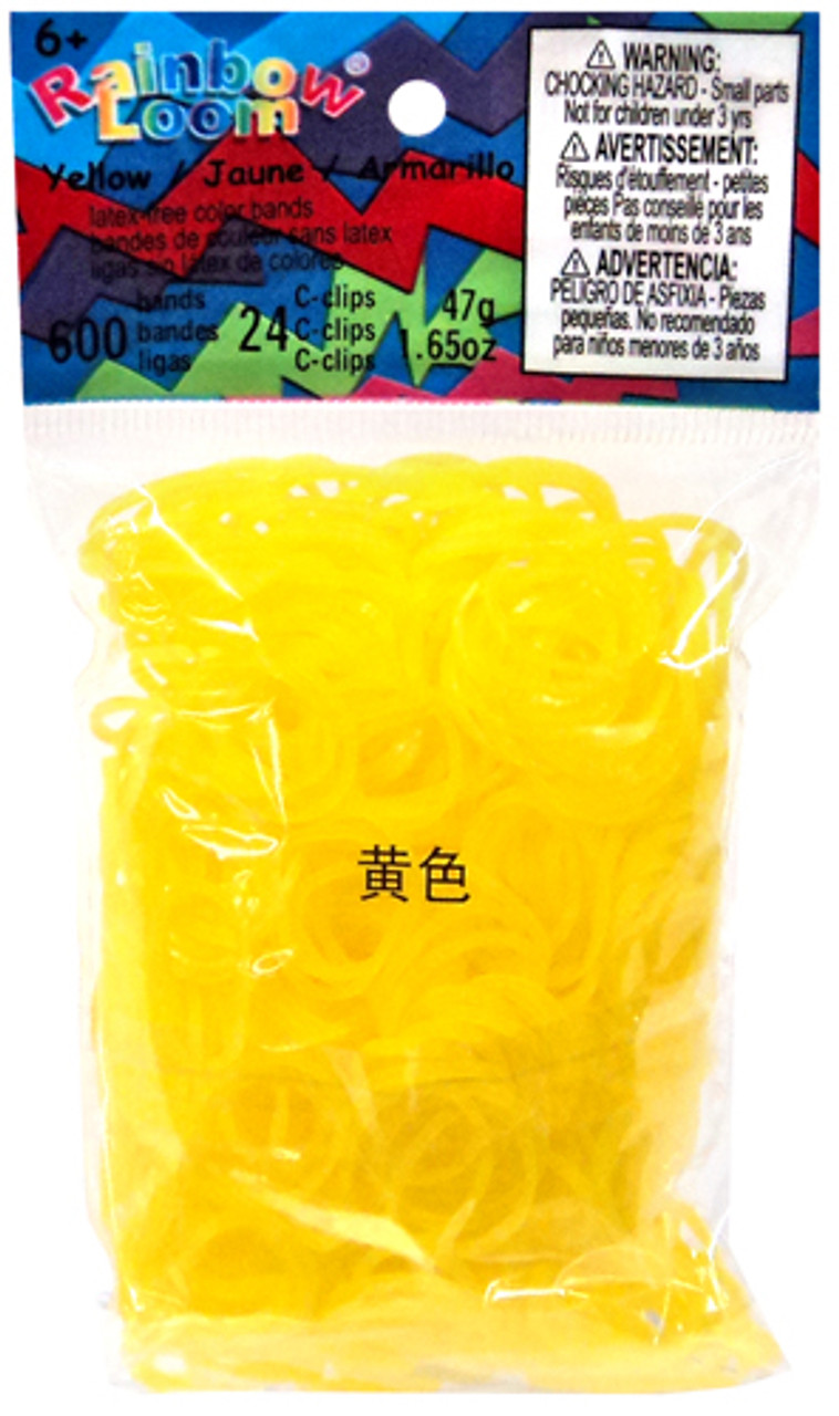 Rainbow Loom Jelly Yellow Rubber Bands Refill Pack RL9 [600 ct]