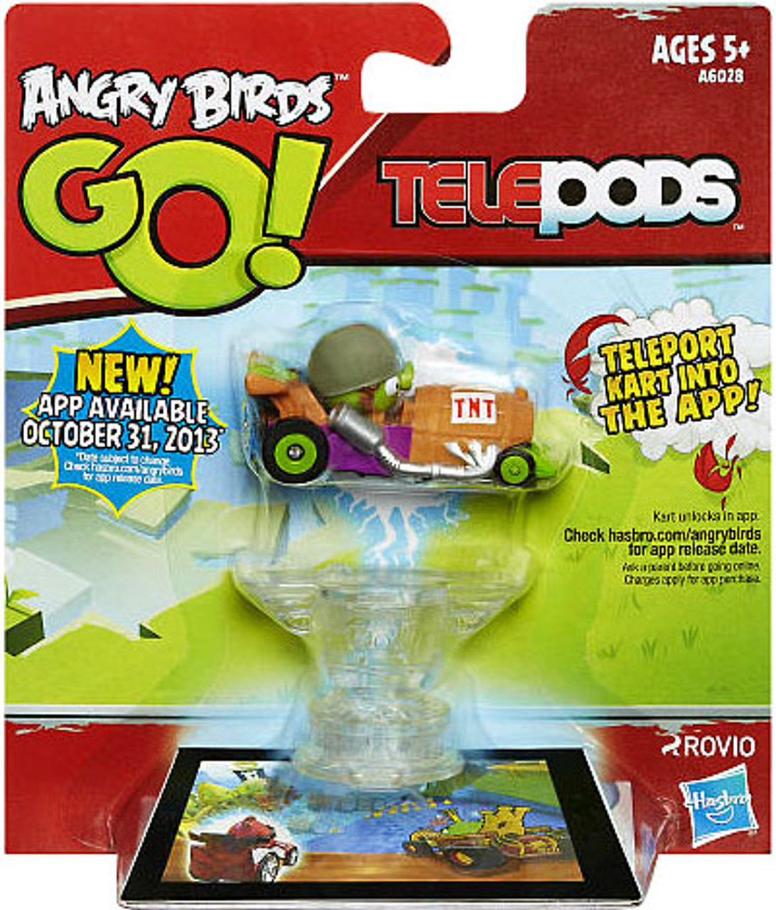 Angry Birds GO! Telepods Kart Series 1 Green Pig Figure Pack [Helmet]