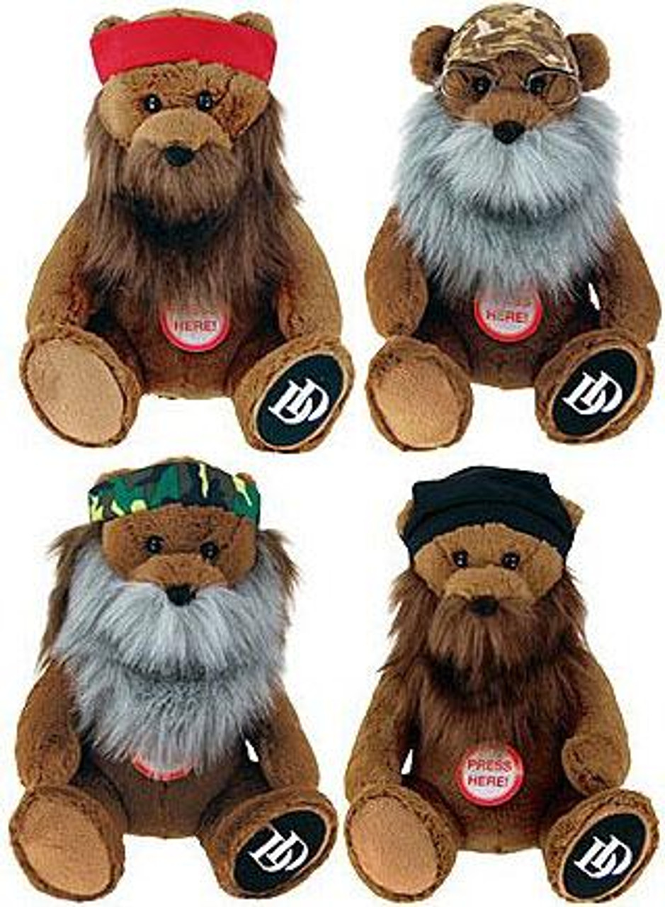 Duck Dynasty Bears with Birds Set of 4 8-Inch Plush Figures