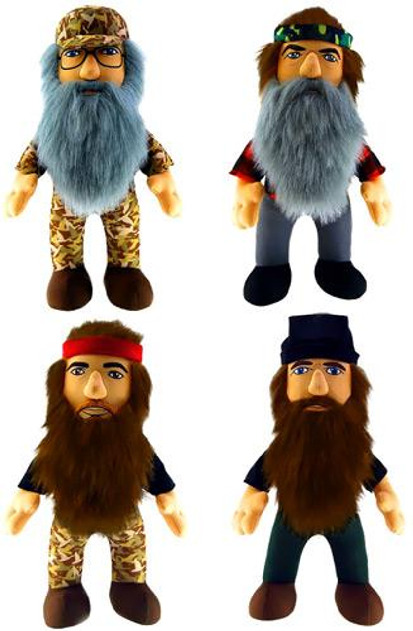 Duck Dynasty Set of 4 13-Inch Plush Figures [With Sound]