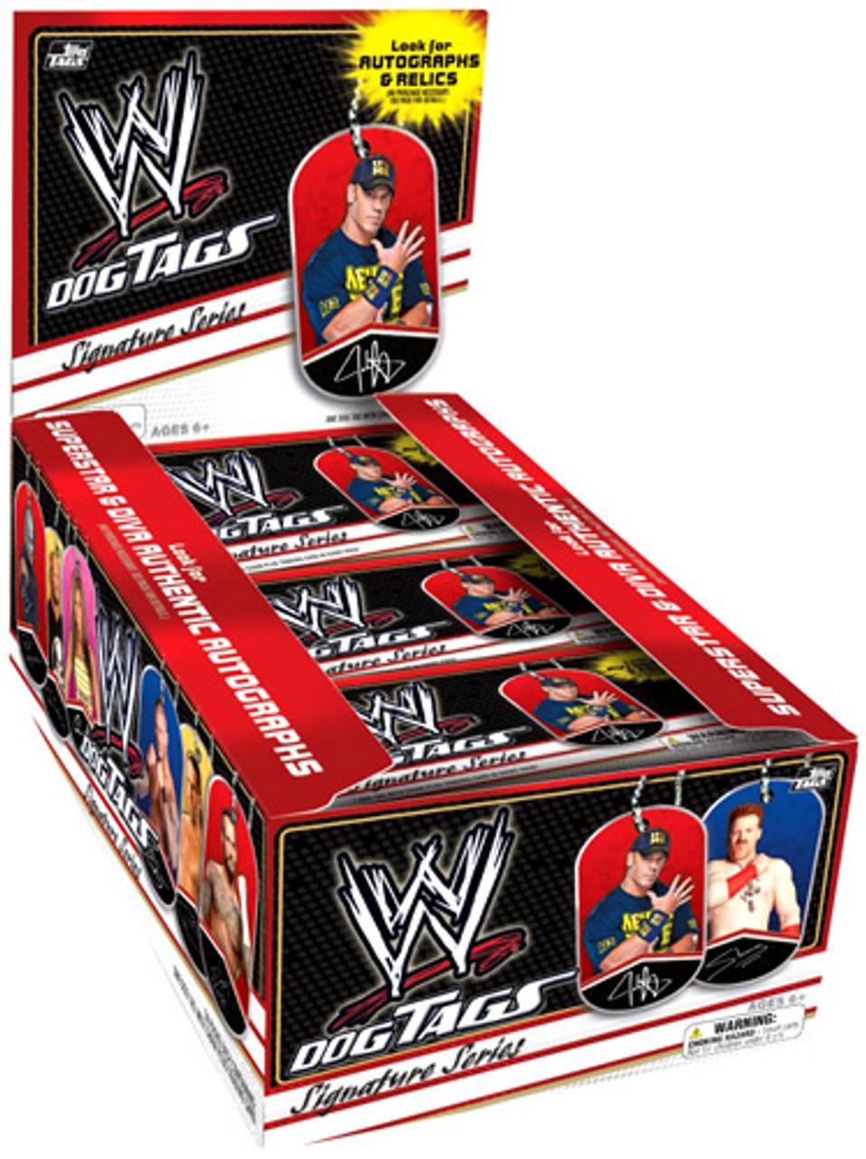 WWE Wrestling 2013 Signature Series Dog Tag Box [24 Packs]