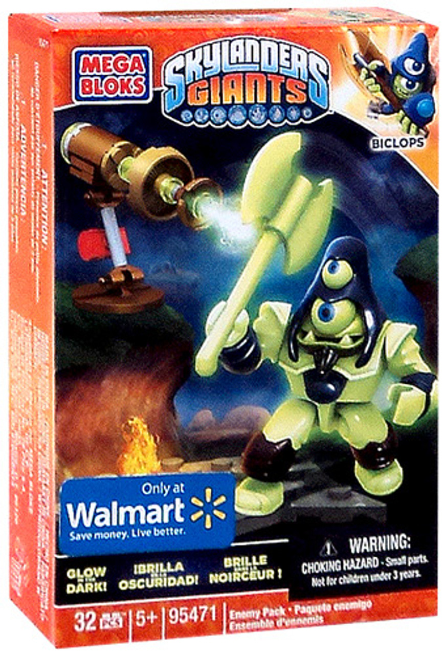 Mega Bloks Skylanders Giants Enemy Pack Biclops Exclusive Set #95471